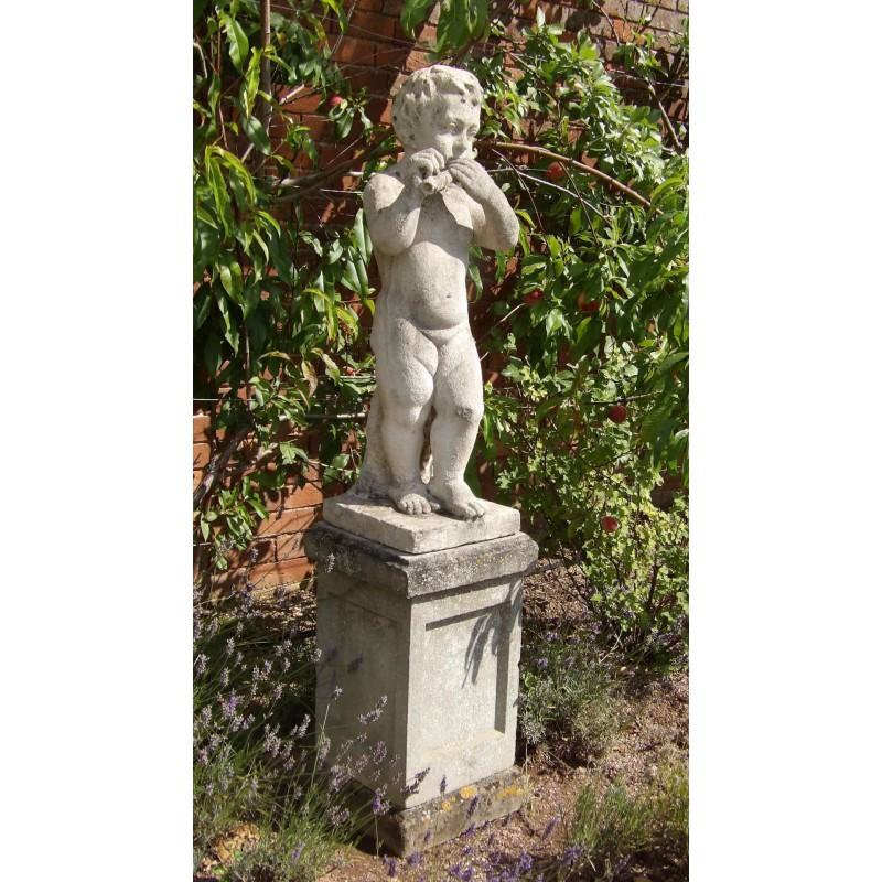 Carved Limestone Garden Statue