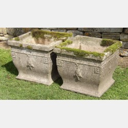 Pair of Vintage Square Planters