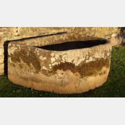 Antique Stone Horse Trough