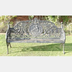 Cast-iron Medallion Bench