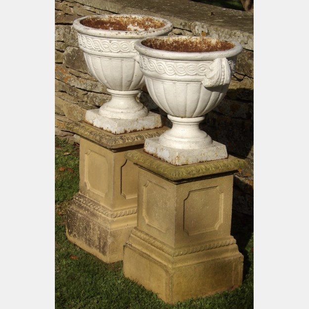 Pair of Antique Garden Urns