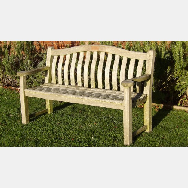 Weathered Teak Bench