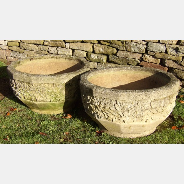 Large Weathered Planters