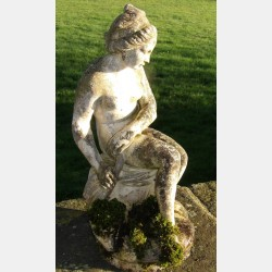 A Weathered Garden Statue