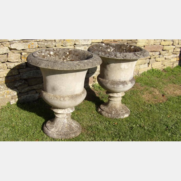 Pair of Large Garden Urns