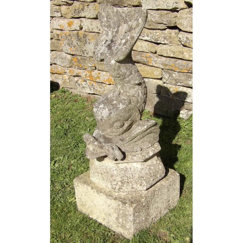 Limestone Fish Fountain