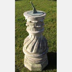 Large Antique Garden Sundial