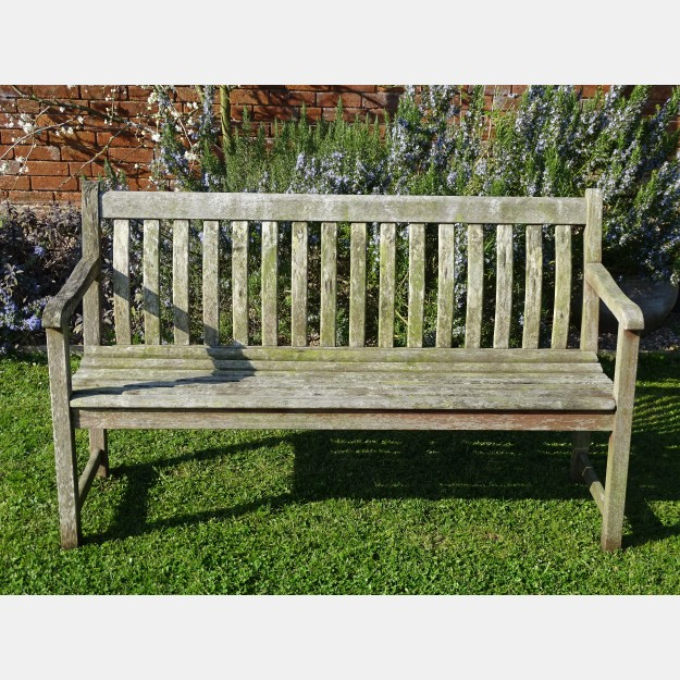 Weathered Garden Bench