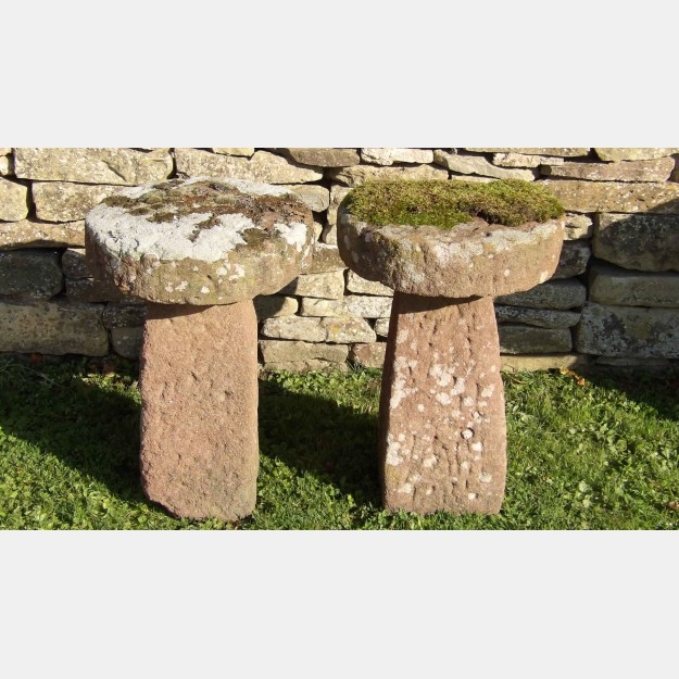 Pair Antique Staddle Stones