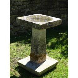 Vintage Stone Birdbath