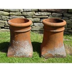 Pair Salvaged Chimney Pots