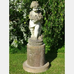 Limestone Garden Statue