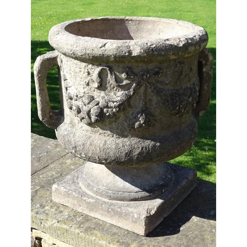 Vintage Earthenware Garden Urn