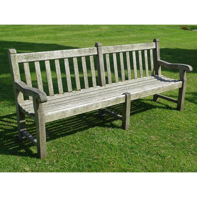 weathered Teak Park Bench