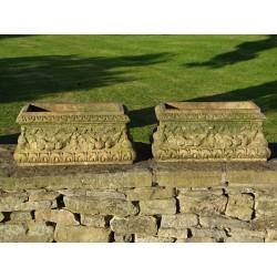 Pair Terracotta Planters