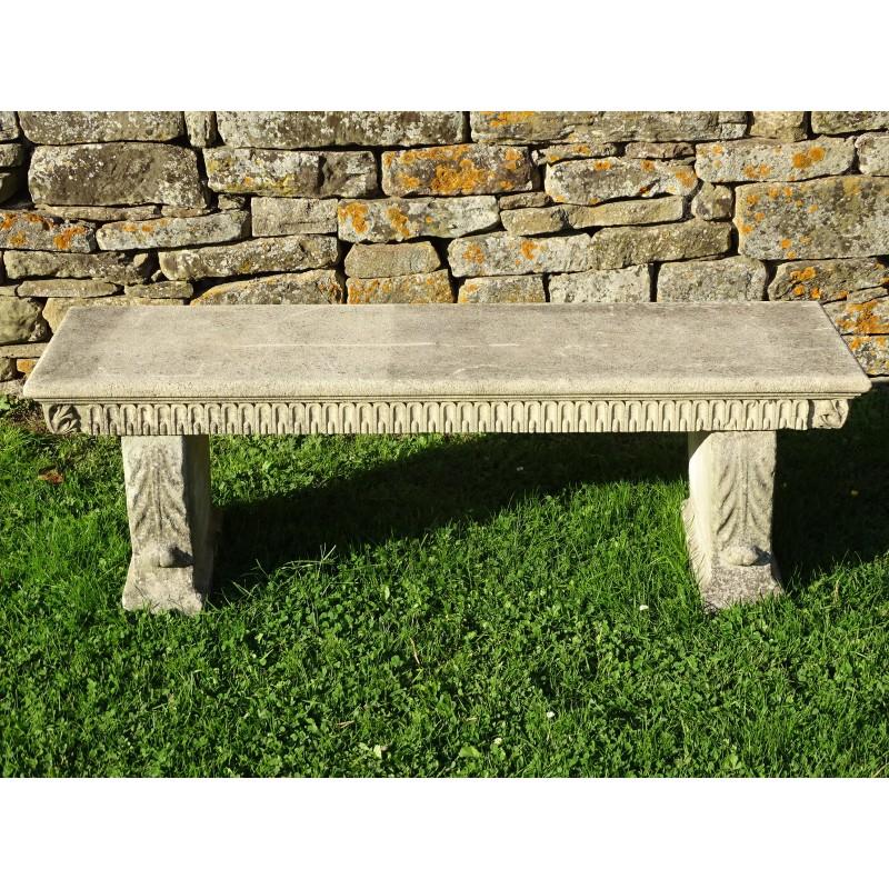 Weathered Stone Garden Seat