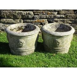 Pair Vintage Garden Planters