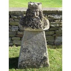 Carved Stone Celtic Bust