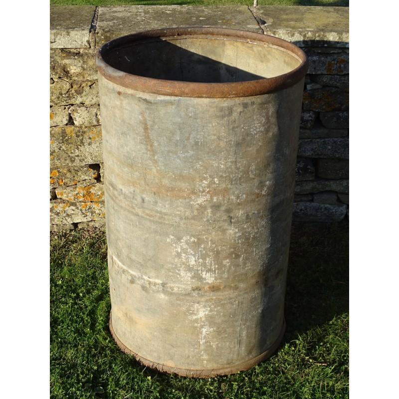 Old Galvanised Barrel