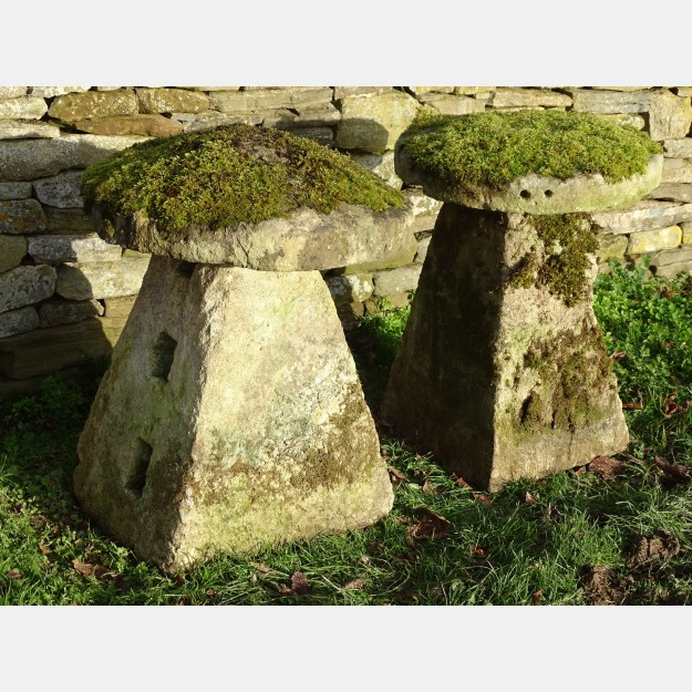Antique Limestone Staddle Stones