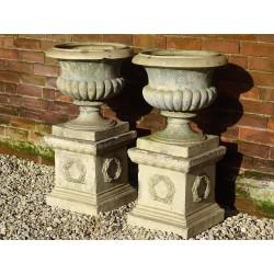 Pair Antique Garden Urns