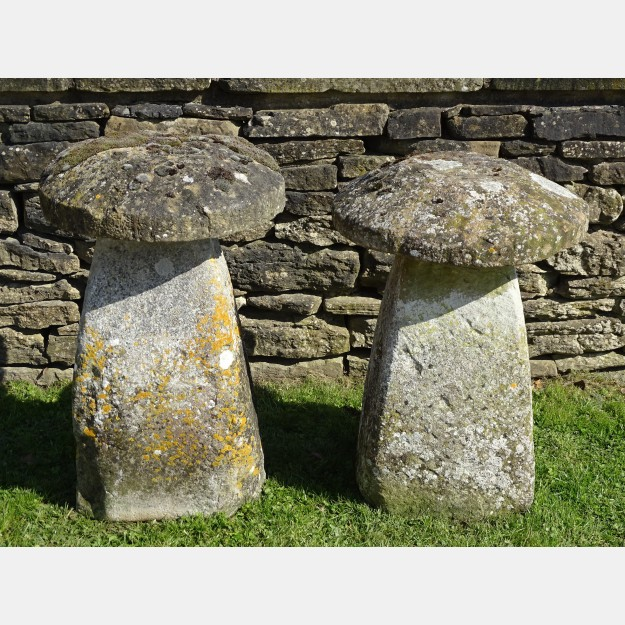 Antique Limestone Staddlestones