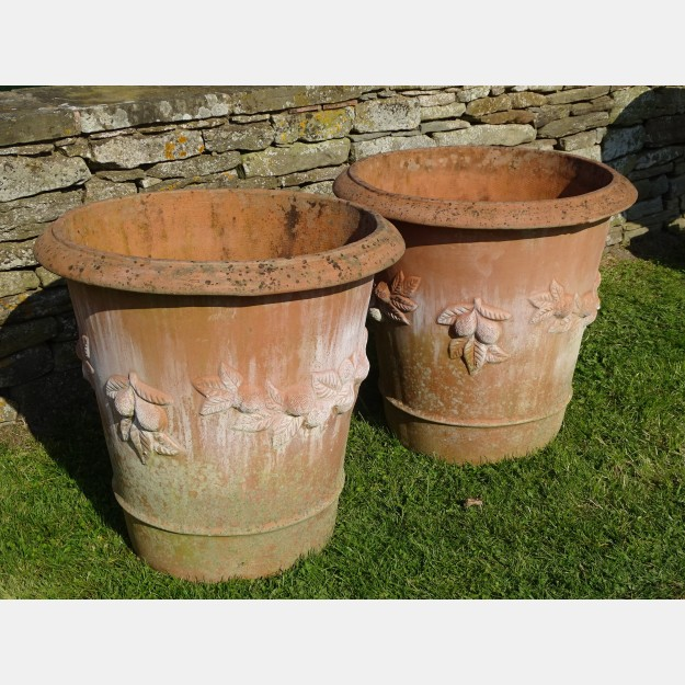 Pair Large Terracotta Planters