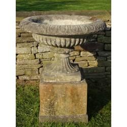 Vintage Stone Urn on Base