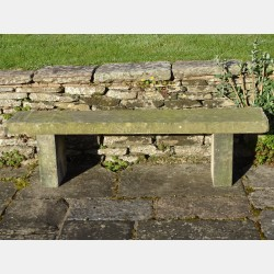 Salvaged Stone Bench