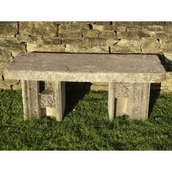 Salvaged Stone Bench