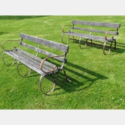 Pair Vintage Benches