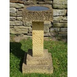 Carved Stone Birdbath