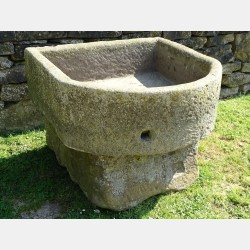 Bow Fronted Stone Trough