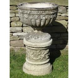 Weathered Urn on Column