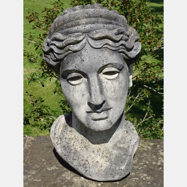 Weathered Bust of Diana