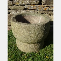 Carved Stone Planter