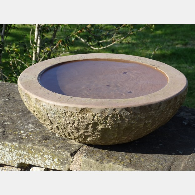 Stone Birdbath Bowl