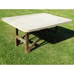 Salvaged Stone Garden Table