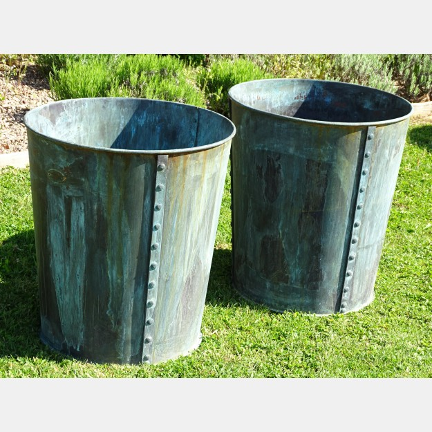 Copper Garden Planters (Pair)