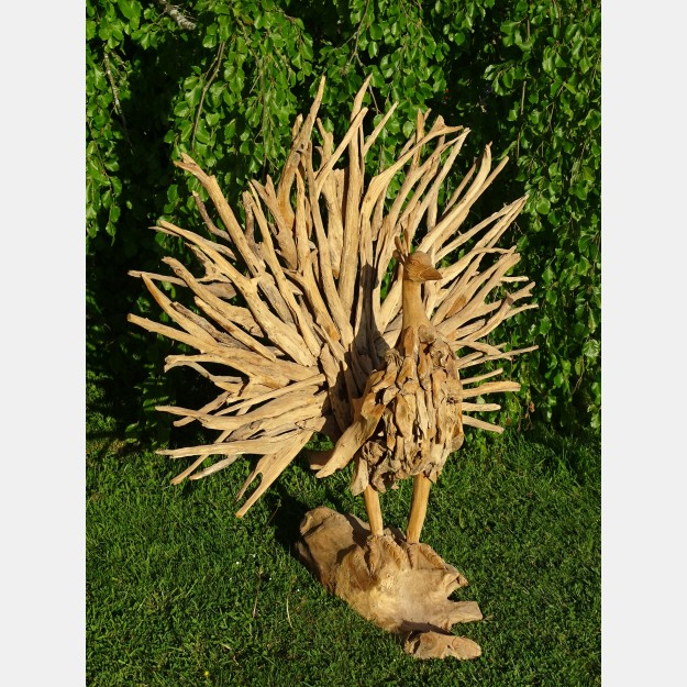 Peacock Teak Root Sculpture