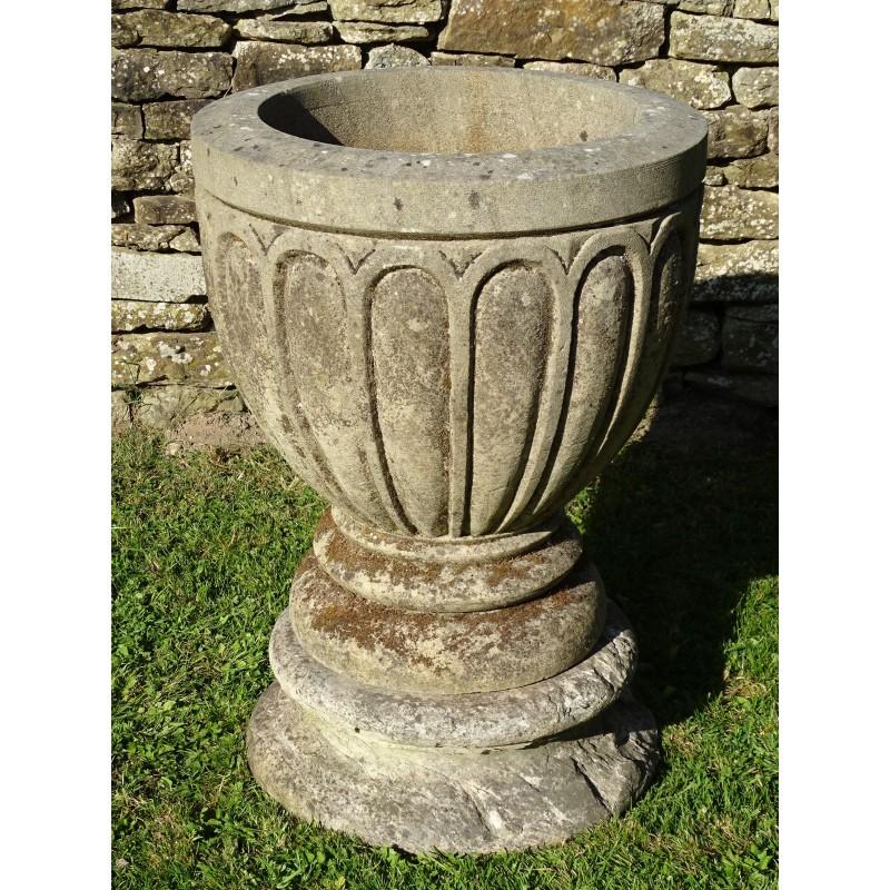 Weathered Stone Urn