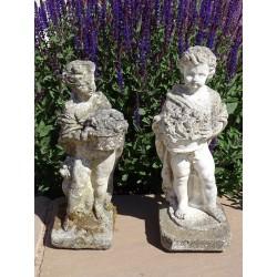 Weathered Garden Figurines