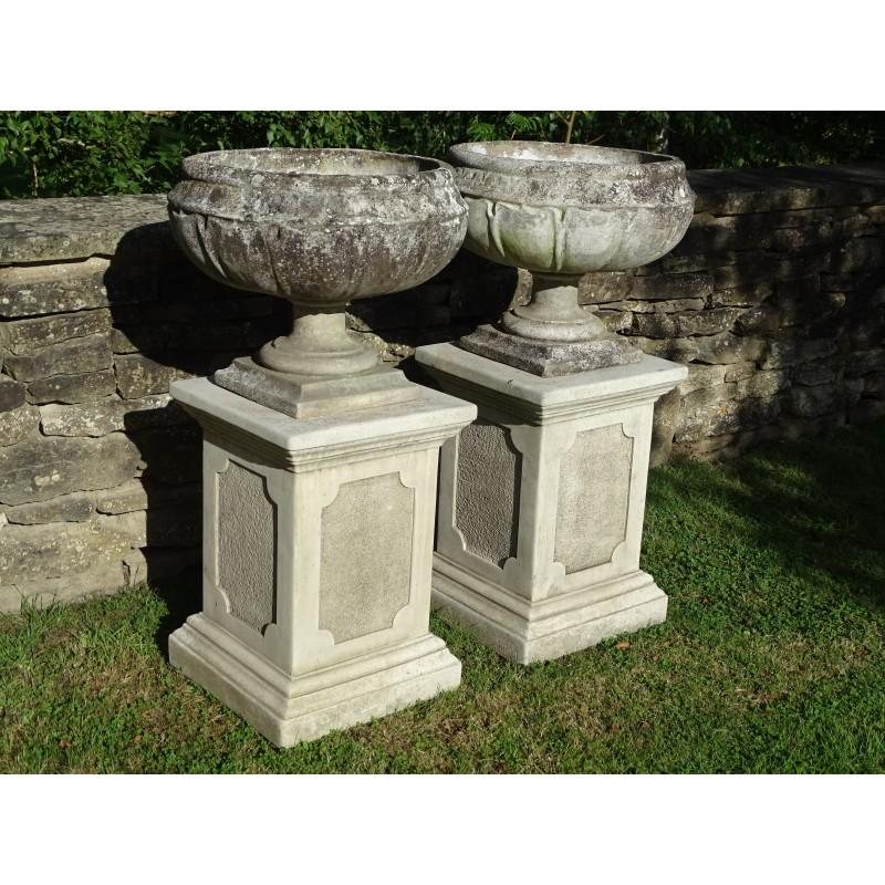 Vintage Garden Urns (Pair)