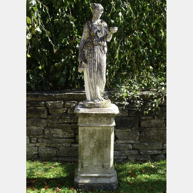 Weathered Statue Of Hebe