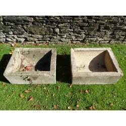 Vintage Concrete Troughs (Pair)