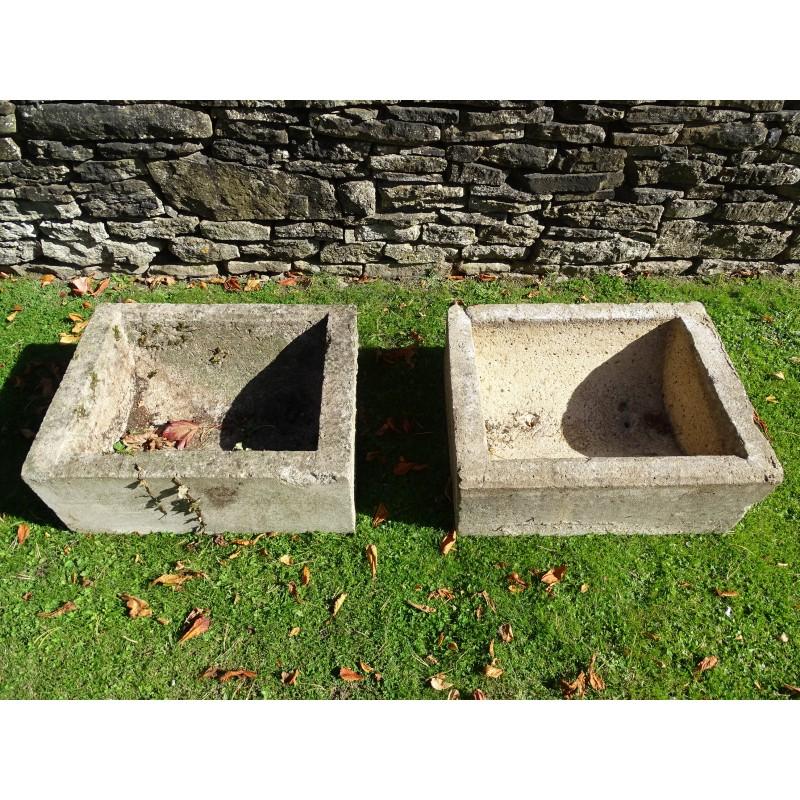 Vintage Concrete Trough (Pair)