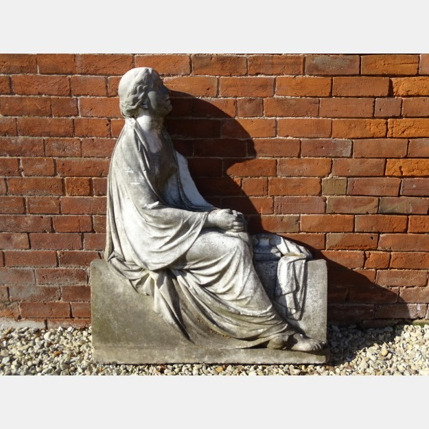 Salvaged Marble Plaque