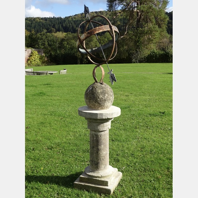 Vintage Armillary Sundial