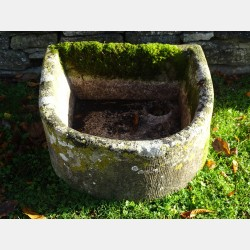 Antique Bow Fronted Trough