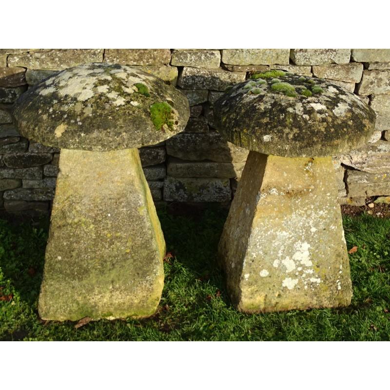 Antique Limestone Staddlestones